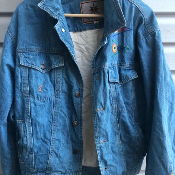 4e5b51bb895 Yves Saint Laurent Jackets & Coats | Authentic Ysl Denim Jacket ...